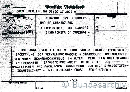 75 DPI Telegramm Straßburg