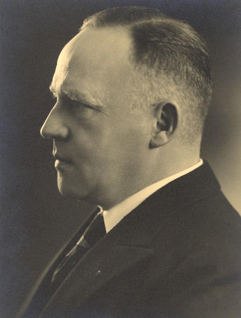 Willy Andreas, fotografiert von Robert Herbst, Heidelberg (UAH BA Pos I 00038)