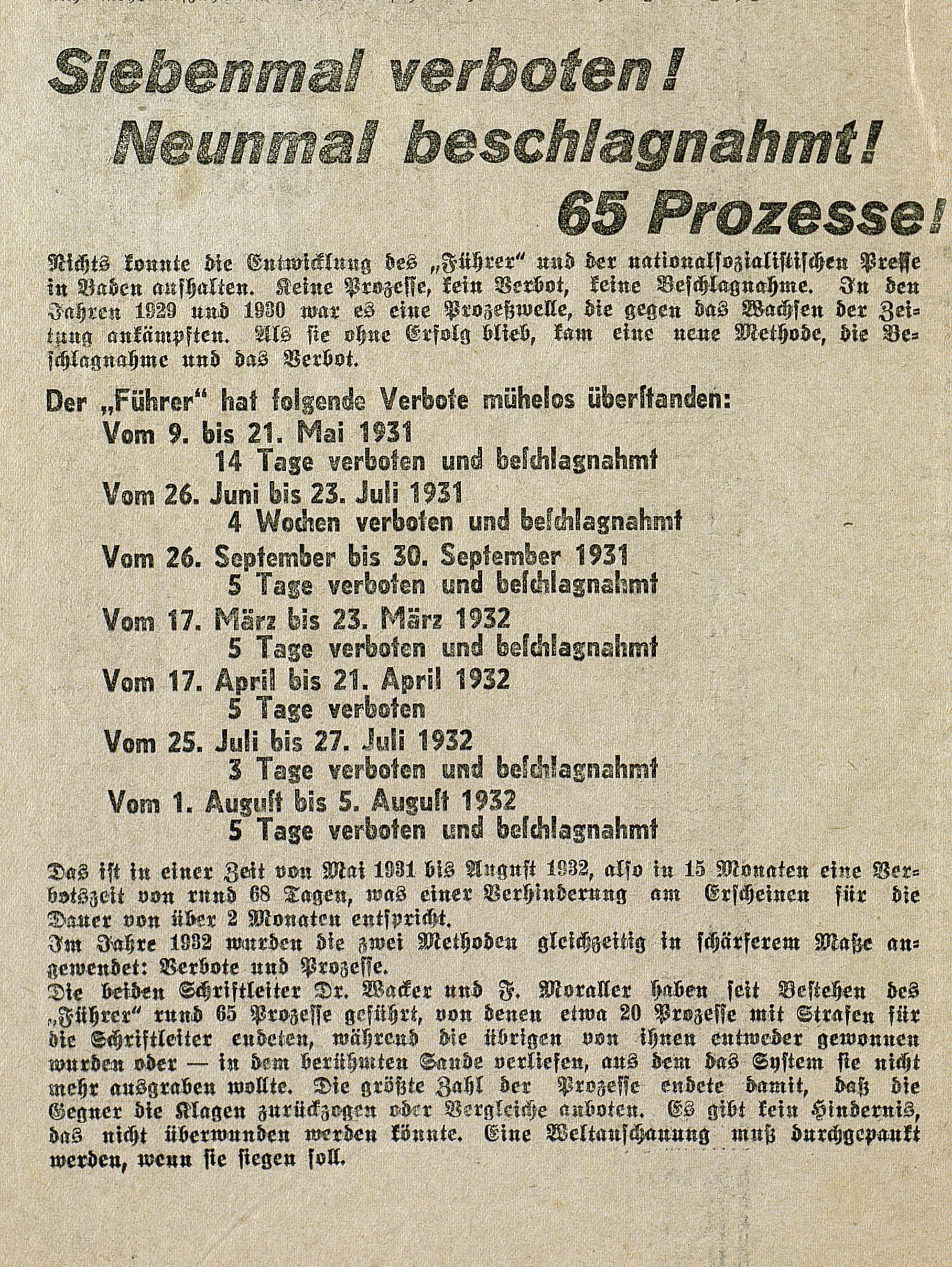 Der Führer 1.11.1932_S 4 unten links