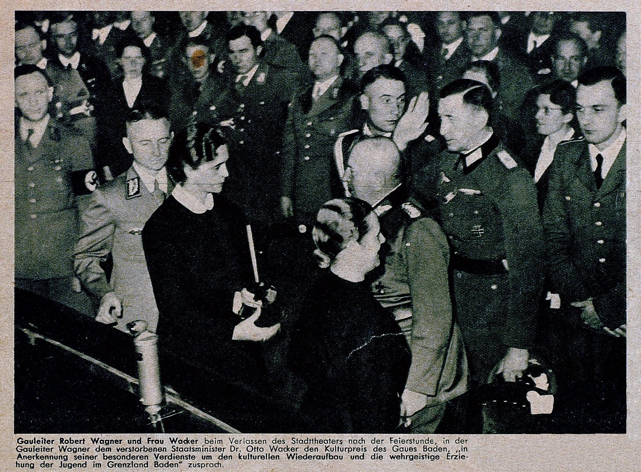 Die Sürag 1.12.1940_Foto Wagner mit Frau Wacker
