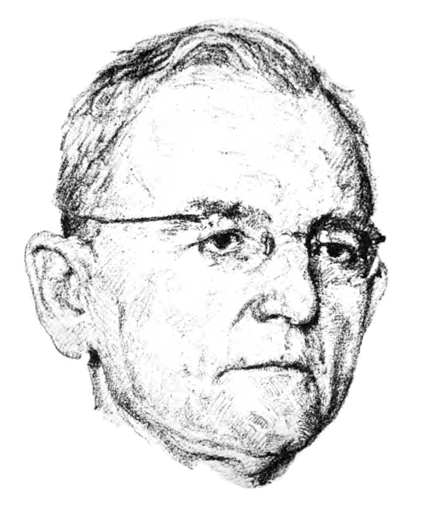 Gerhard Ritter (1944), Steinzeichnung von Erwin Heinrich. Mit freundlicher Genehmigung des Orden Pour le mérite für Wissenschaften und Künste