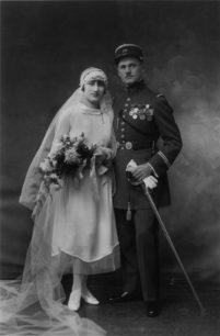 Hochzeitsfoto Marthe und Gaston, 18. Oktober 1928 © P. Hugues